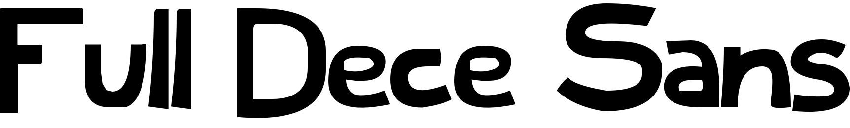 Full Dece Sans