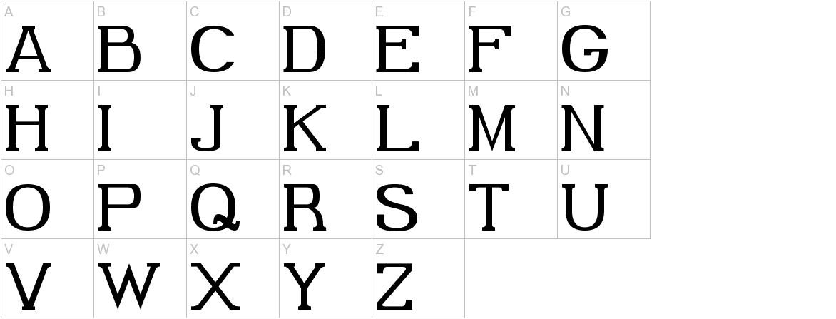 Gabriel Serif uppercase