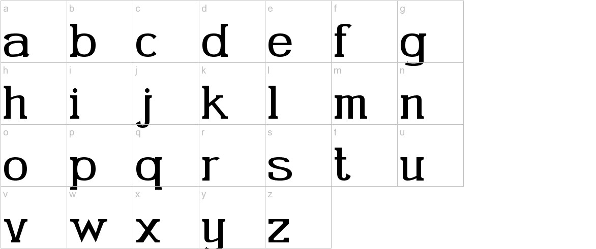 Gabriel Serif lowercase