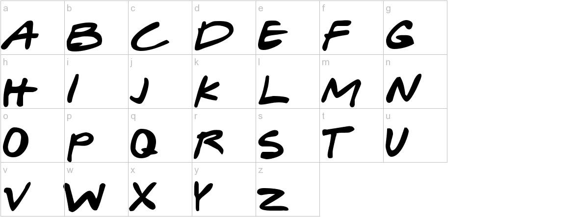 Gabriel Weiss' Friends Font lowercase