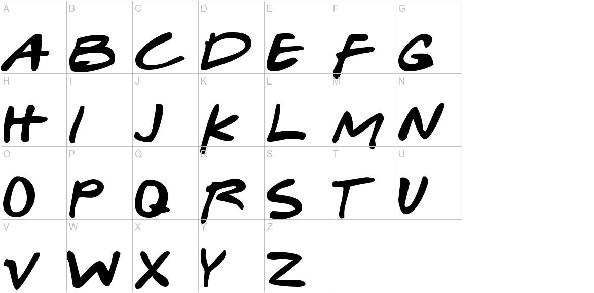 Gabriel Weiss' Friends Font uppercase