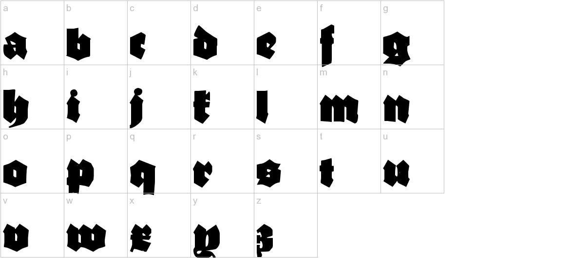 Ganz Grobe Gotisch lowercase
