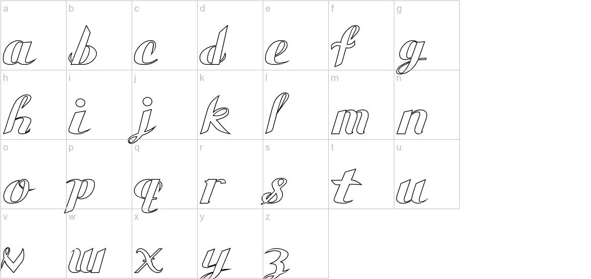 Gauche Display lowercase