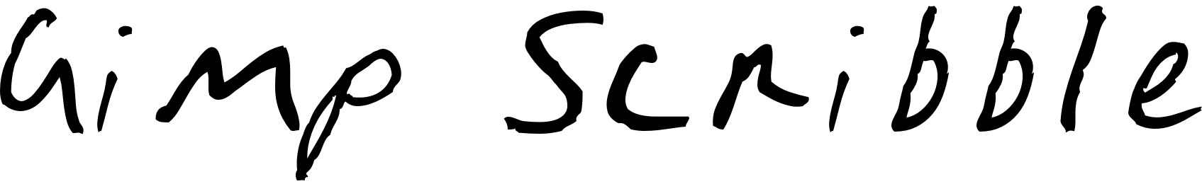 Gimp Scribble