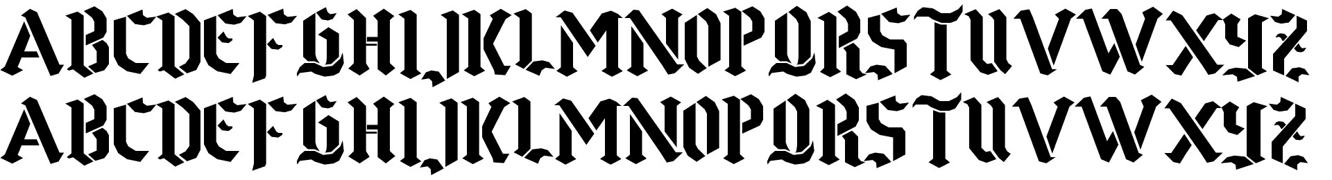 Goth Stencil