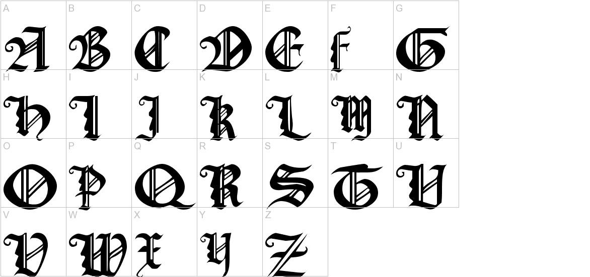 Gothic Texture Quadrata uppercase