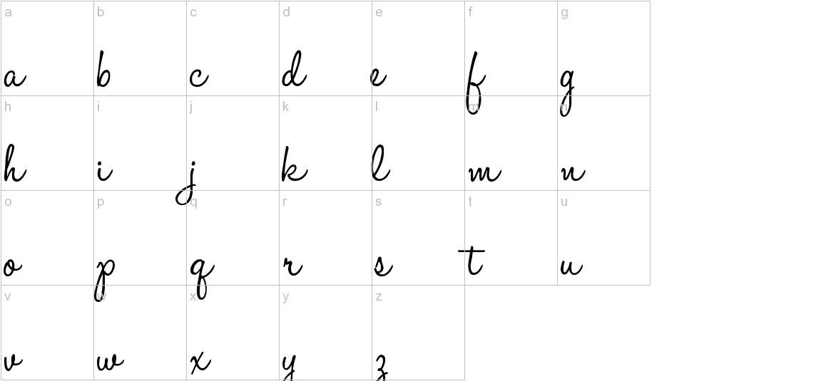 HaloHandletter lowercase