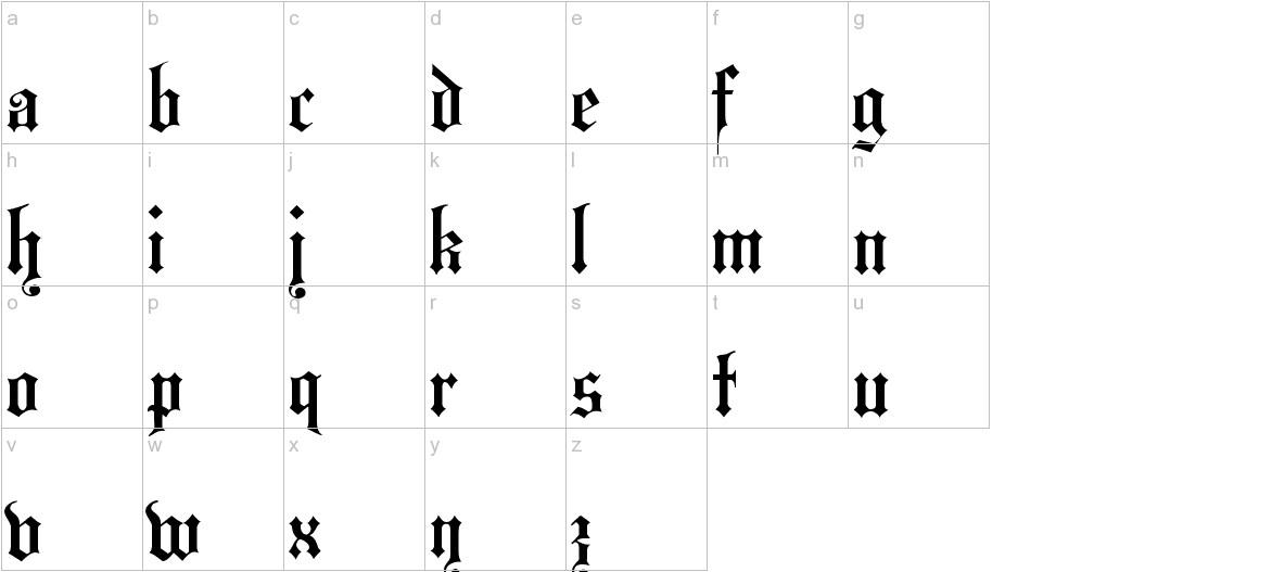 HansaGotisch lowercase