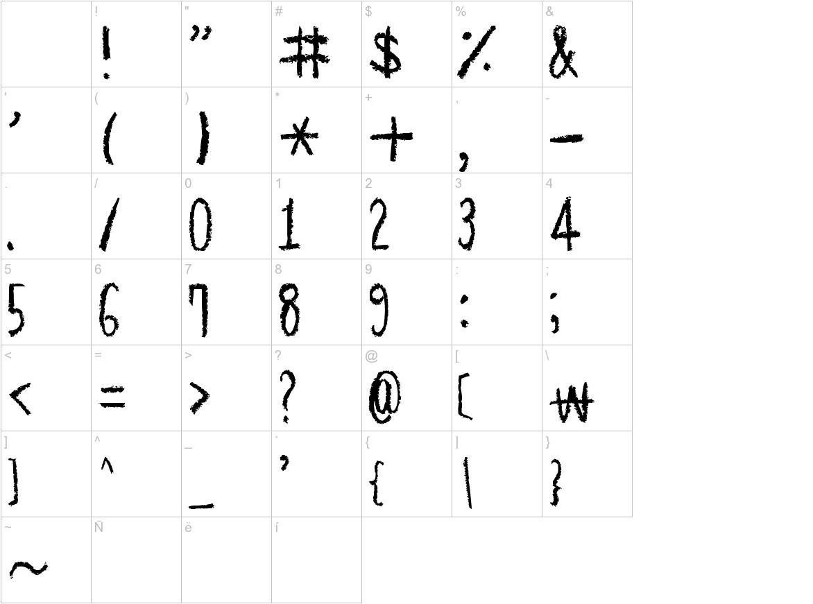 Hapole Pencil characters