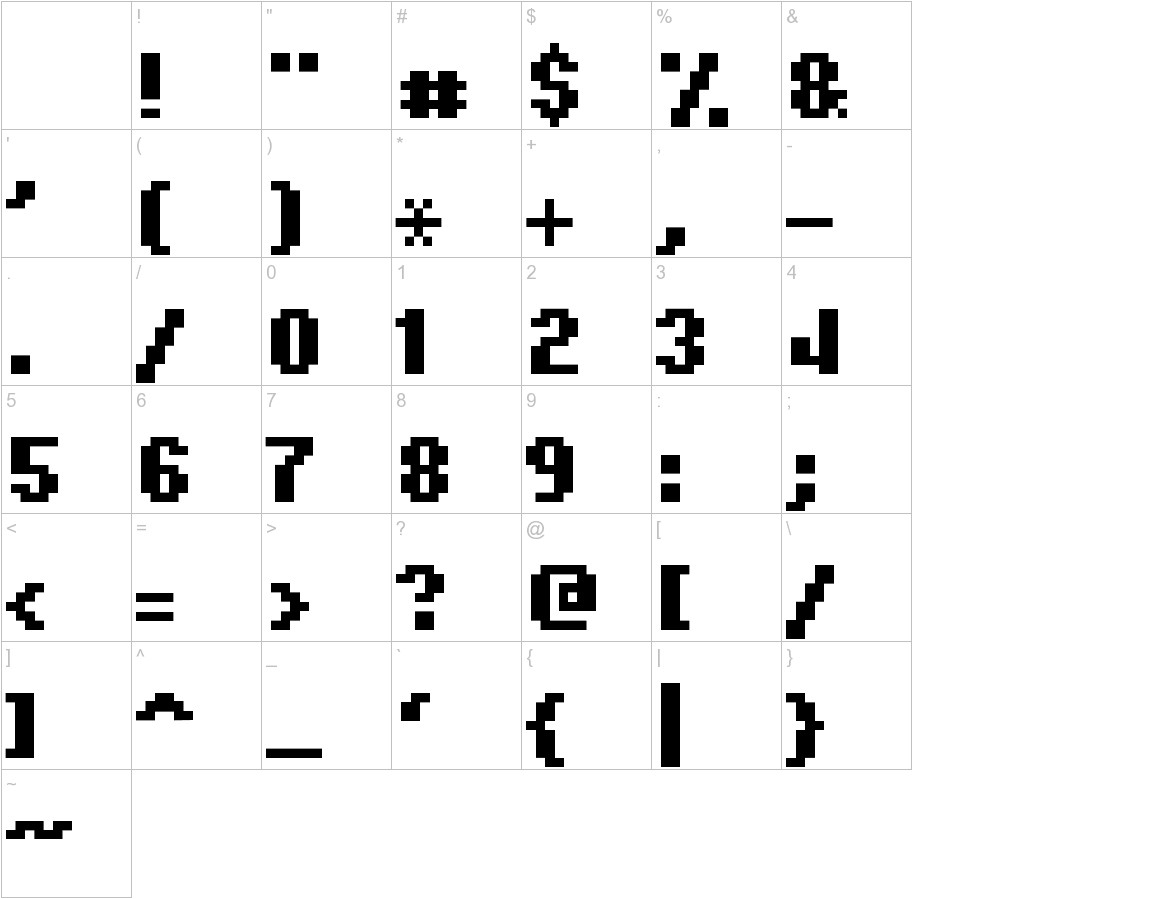 Hardpixel characters
