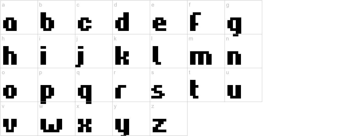 Hardpixel lowercase
