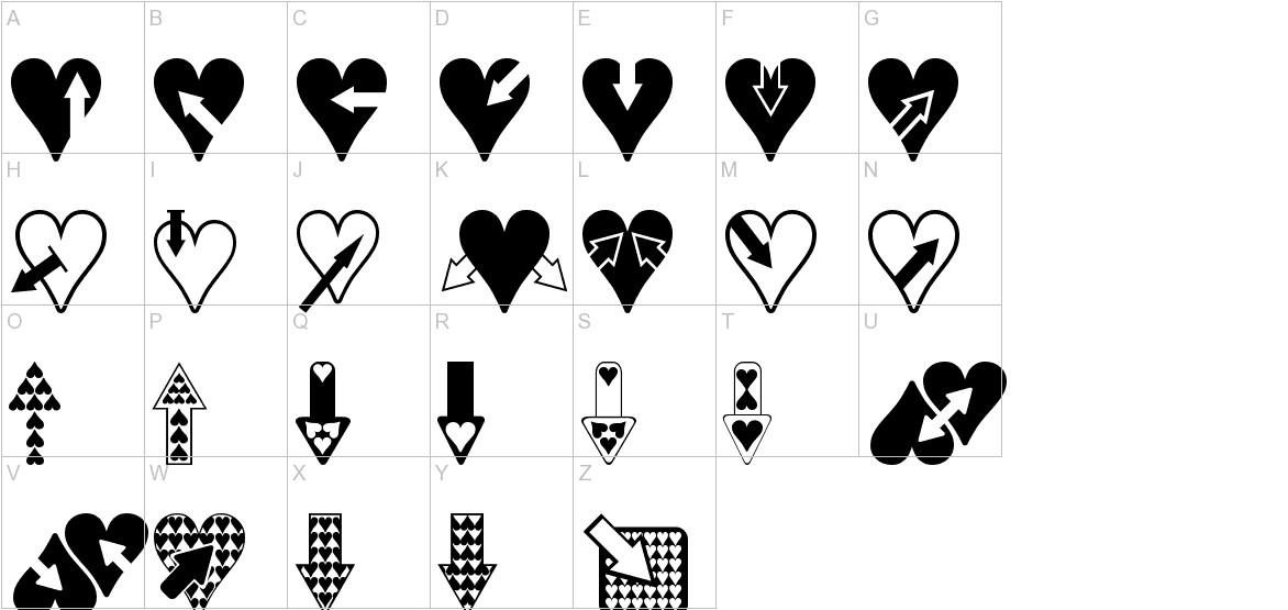 Hearts n Arrows uppercase