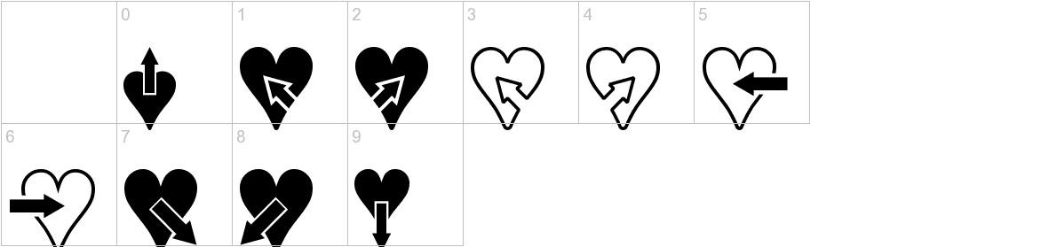 Hearts n Arrows characters