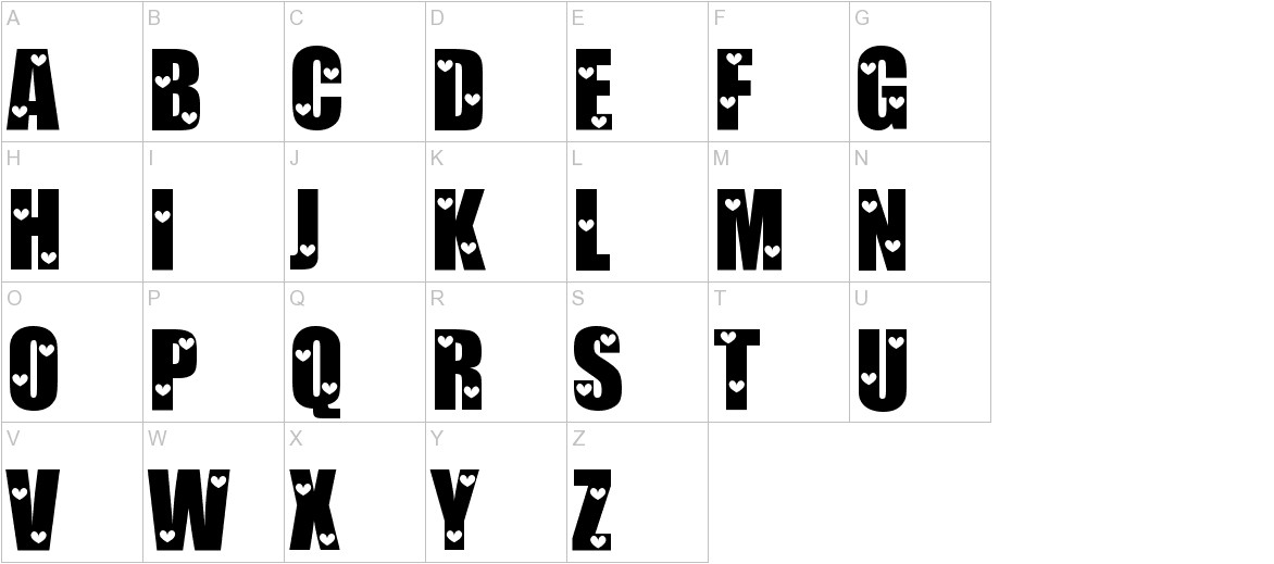 Love Letters uppercase