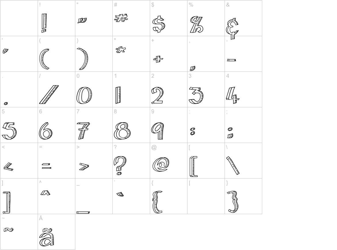 Home&Hearth-Outline Bold characters