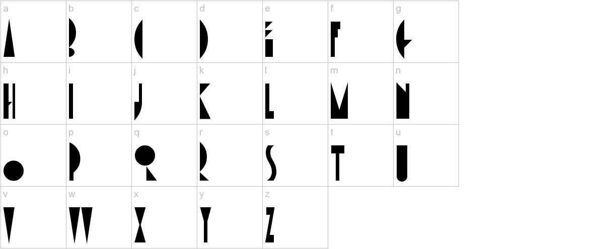 AmsterdamTangram lowercase