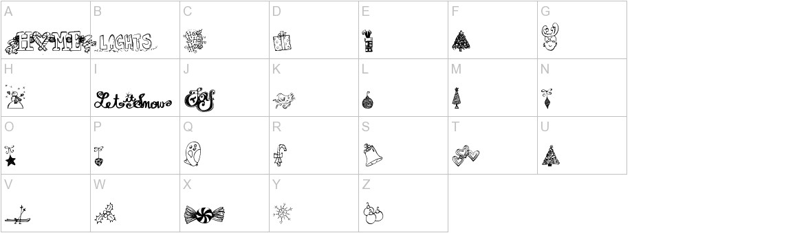 Janda Christmas Doodles uppercase