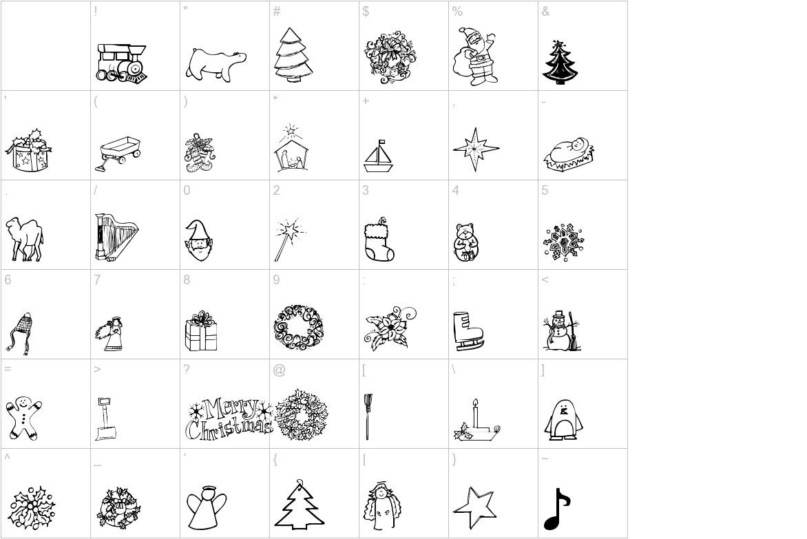 Janda Christmas Doodles characters