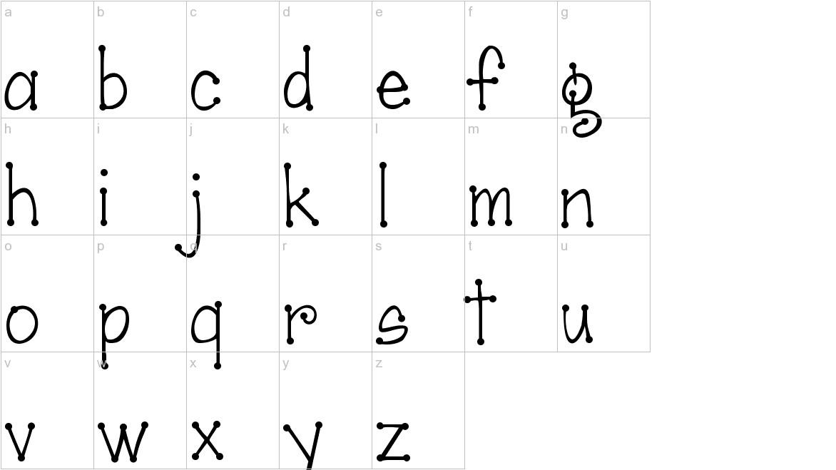 Janda Scrapgirl Dots lowercase