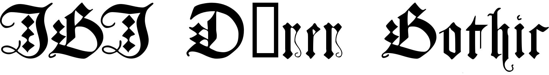 JGJ Dürer Gothic