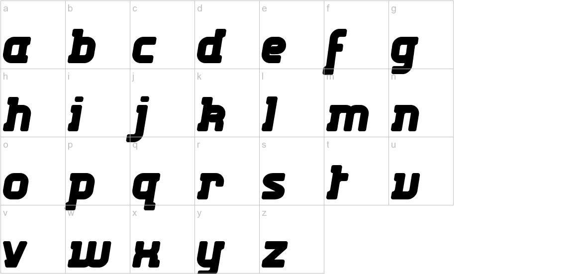 Kabys lowercase