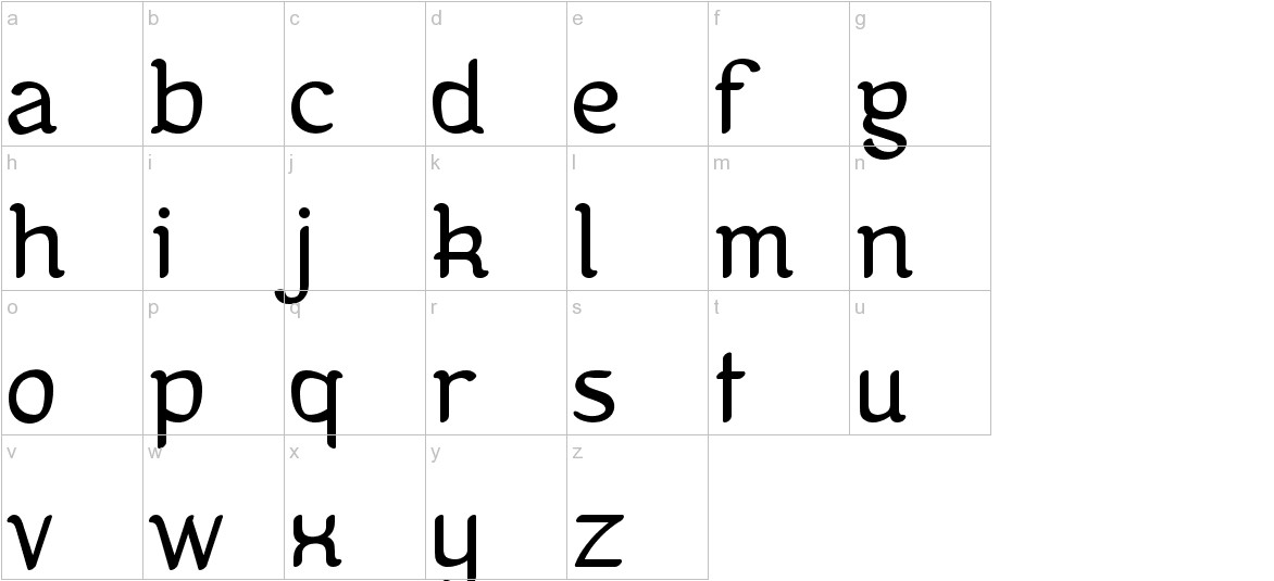 Kanis lowercase