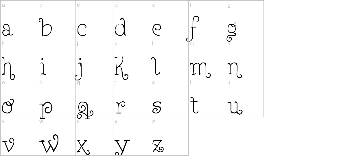 Lejana lowercase