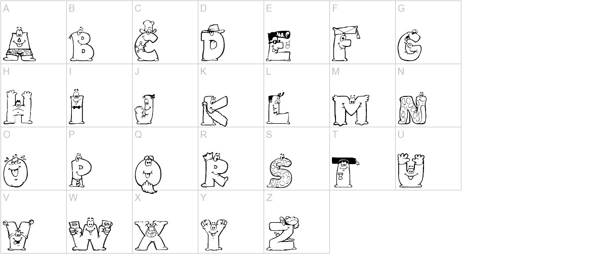 LMS Letterbat Friends uppercase