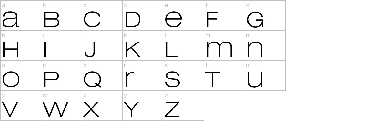 Lowvetica lowercase