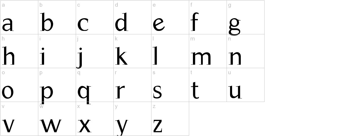 Magnificent lowercase