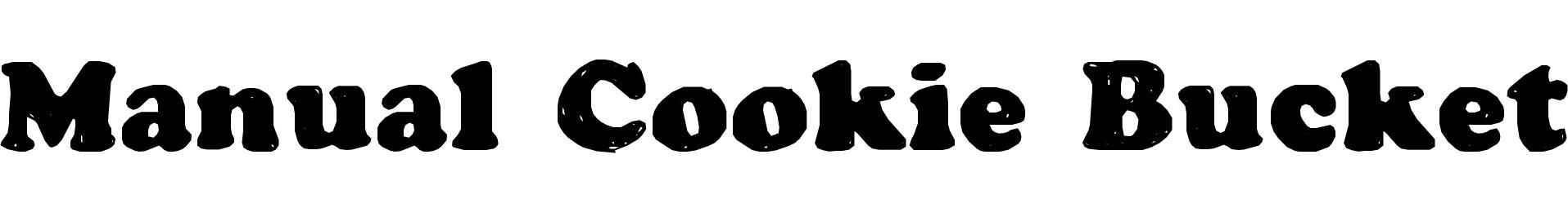 Manual Cookie Bucket