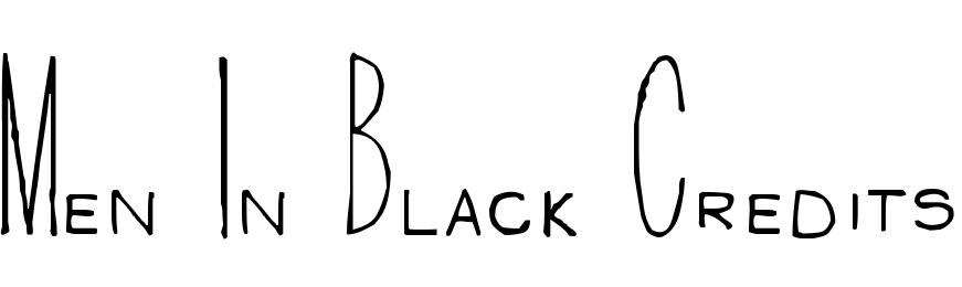 Men In Black Credits