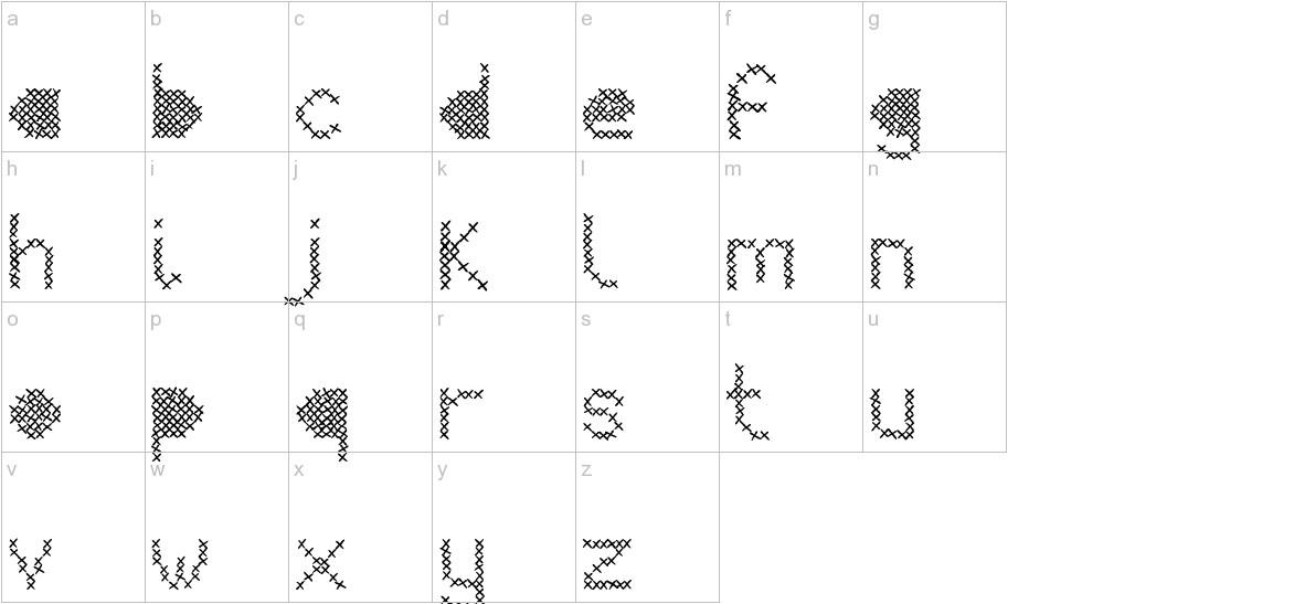 Mesh Stitch lowercase