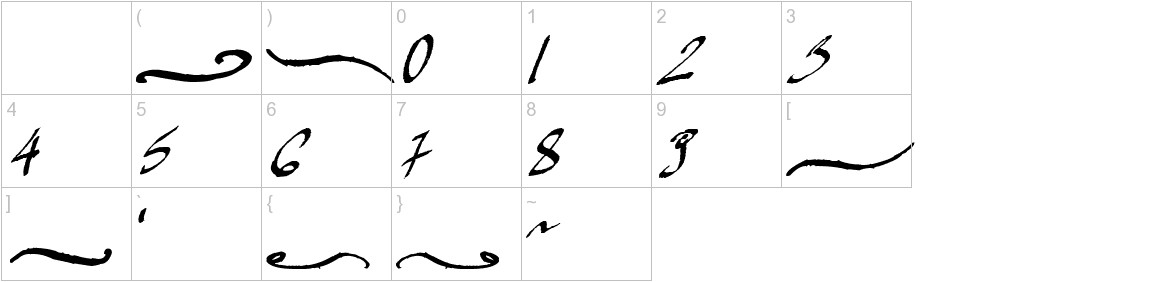 Mickey Script characters