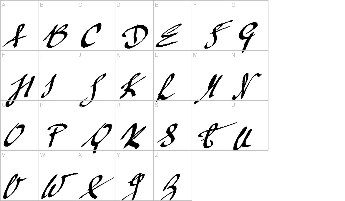 Mickey Script uppercase