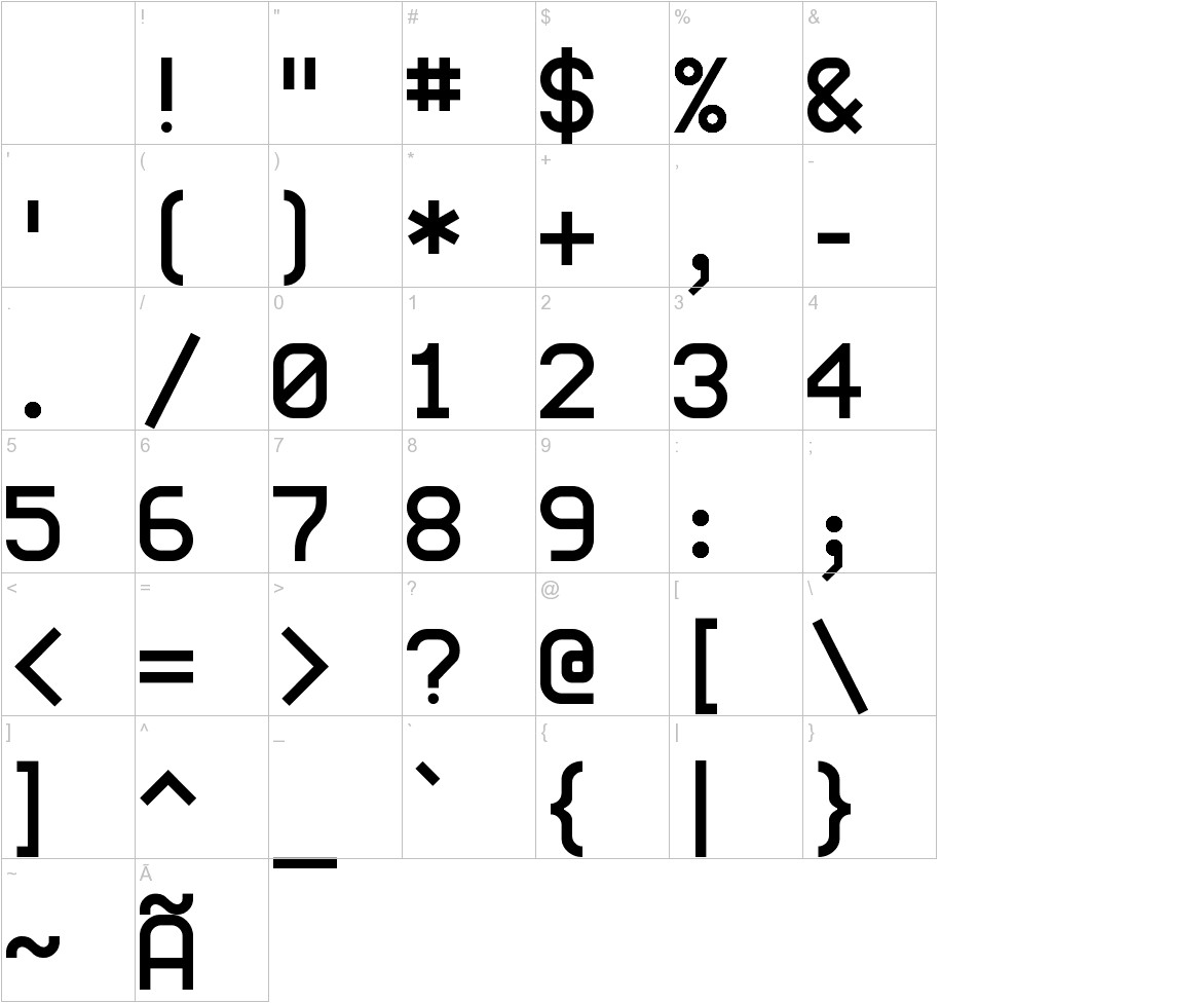 monoMMM_5 characters