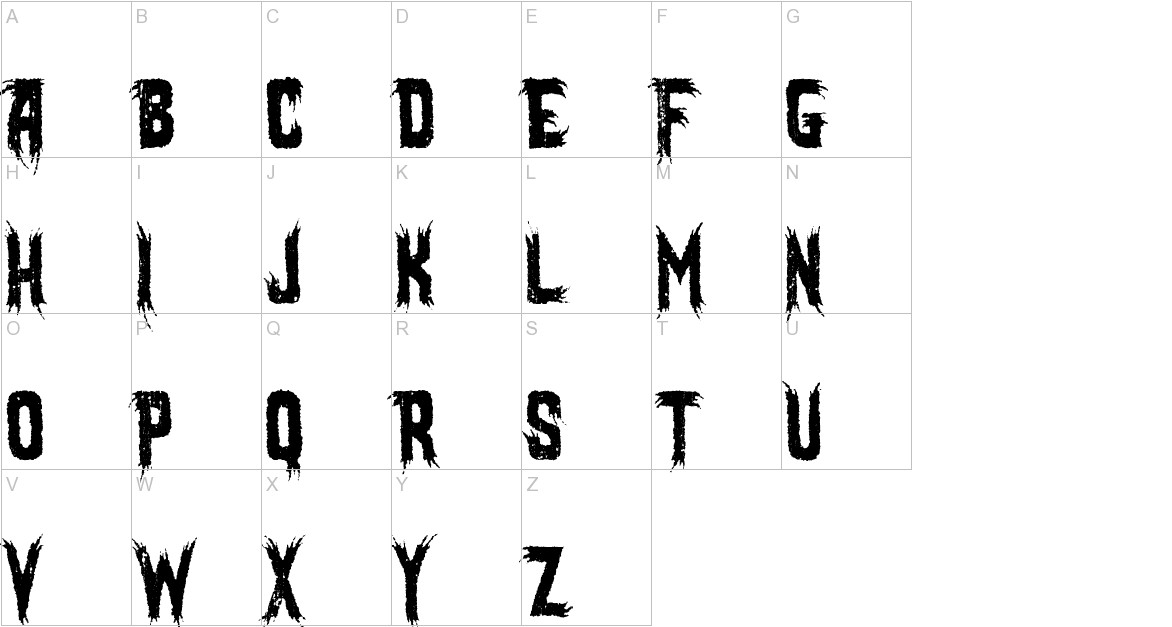 Mostly Ghostly uppercase