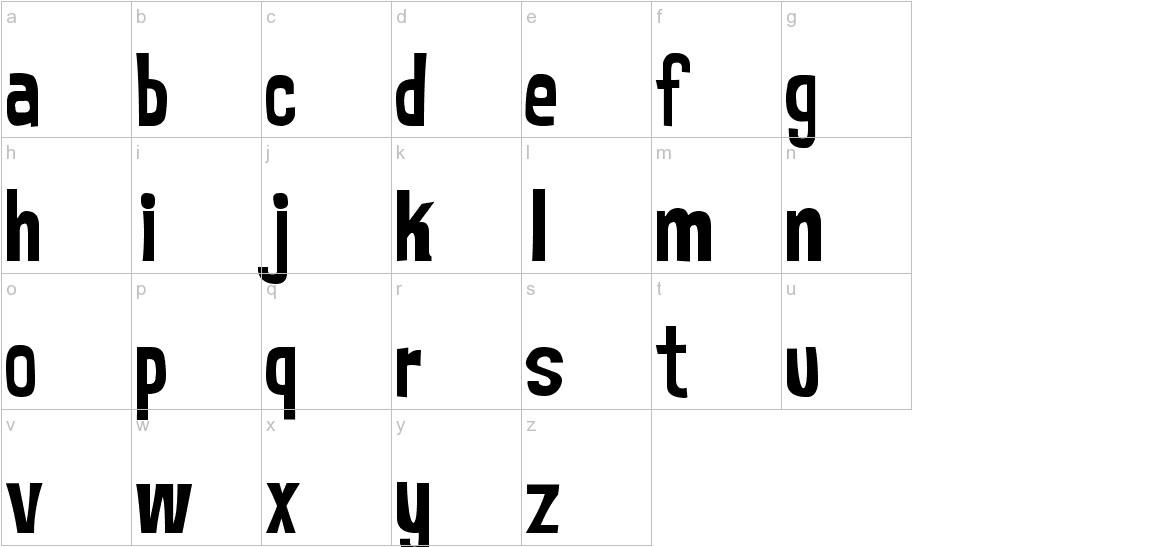 MrBubbleFont lowercase