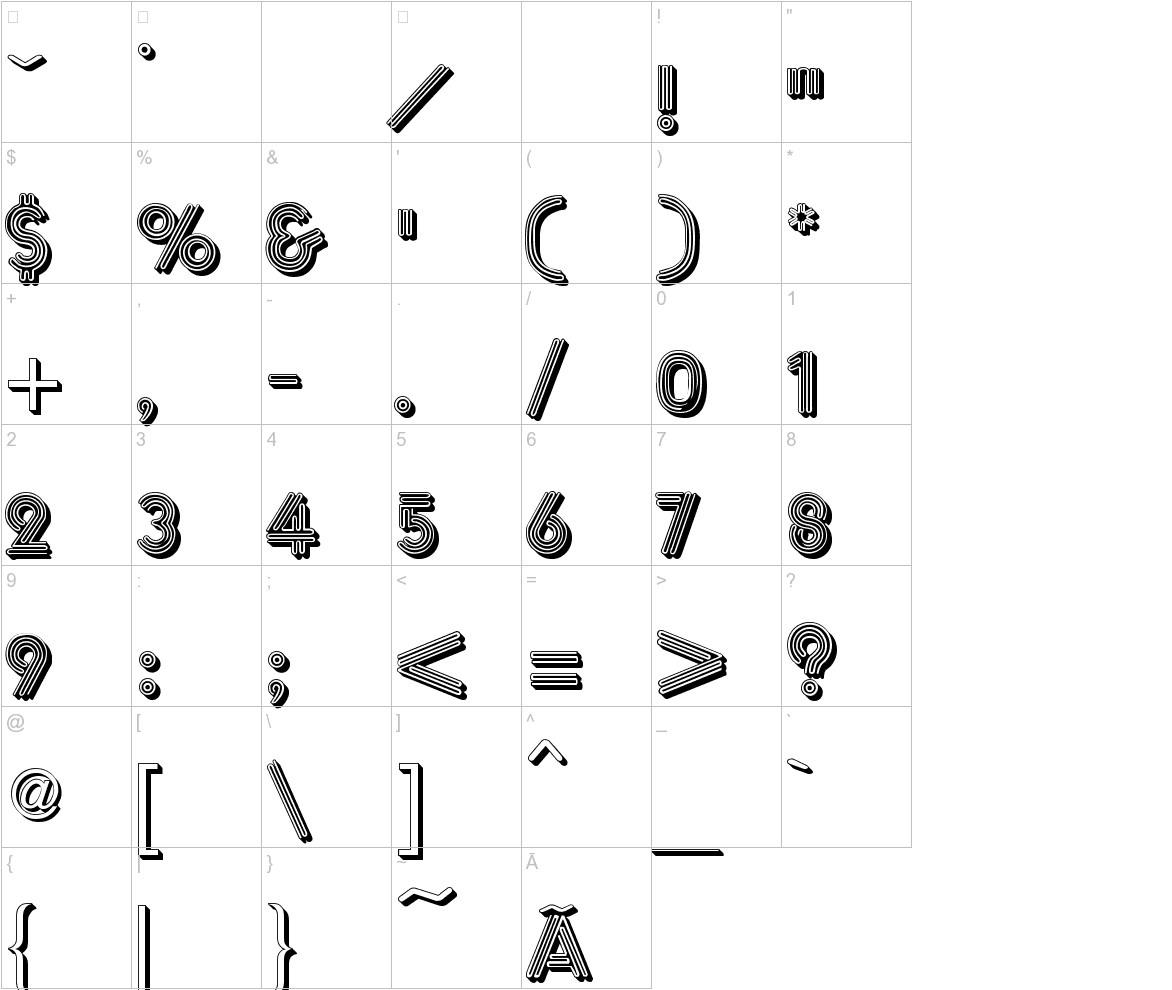 Multistrokes characters