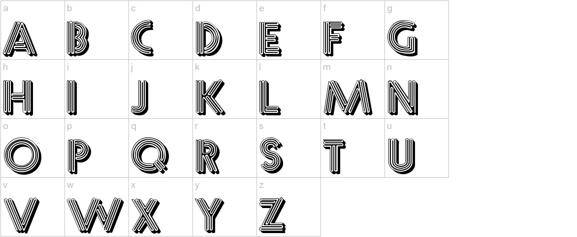 Multistrokes lowercase