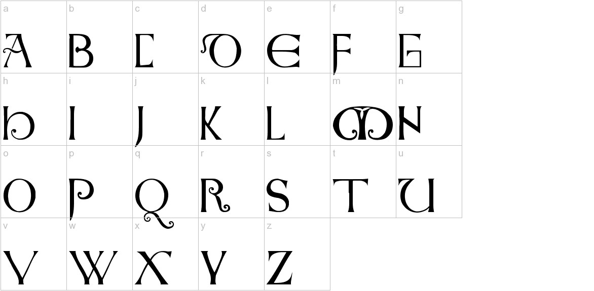 Anglo-Saxon Caps lowercase