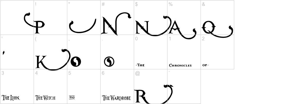 Narnia BLL characters
