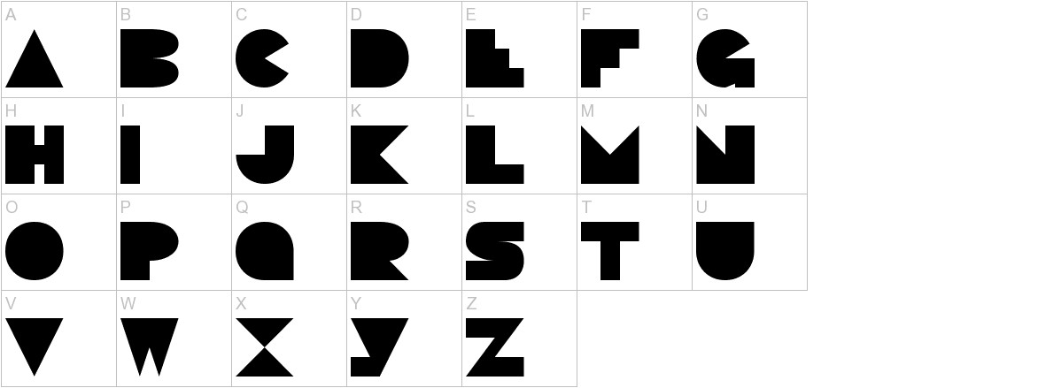 Pacmania Normal uppercase