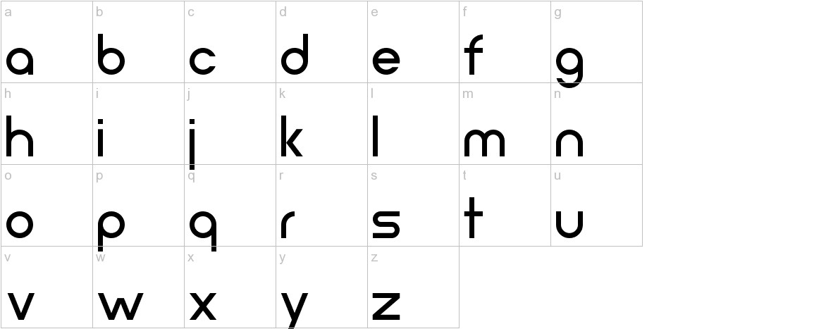 Neometric Medium lowercase
