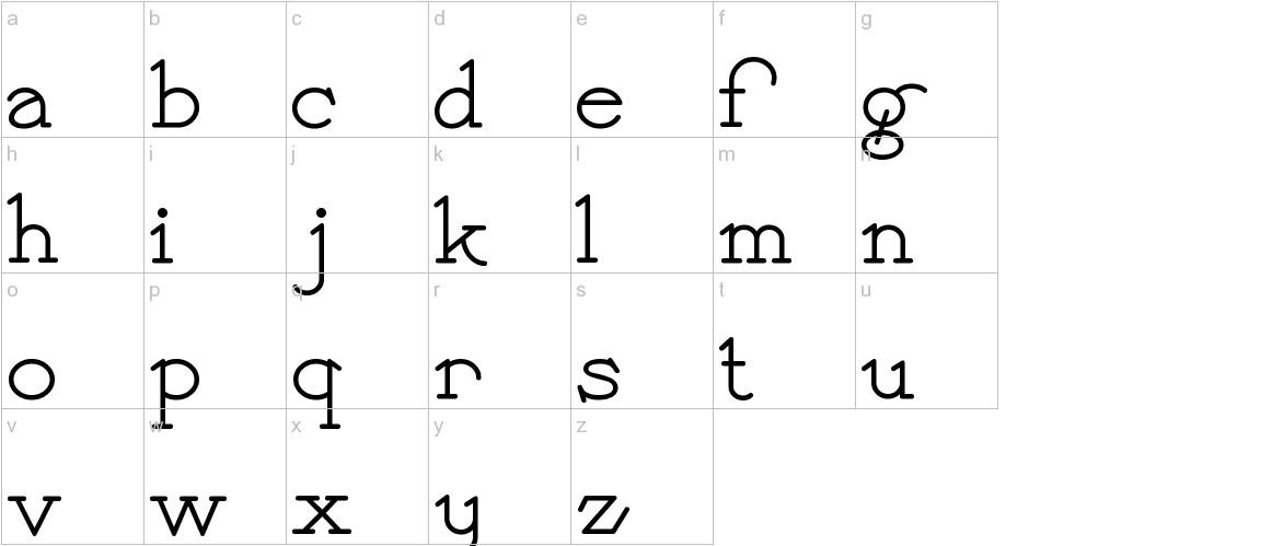 PayzantPen lowercase