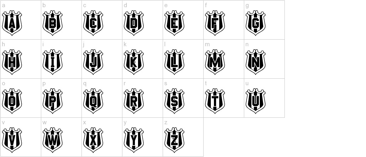 NUFC Shield lowercase