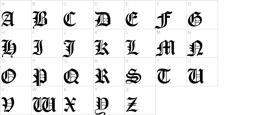 Old London uppercase