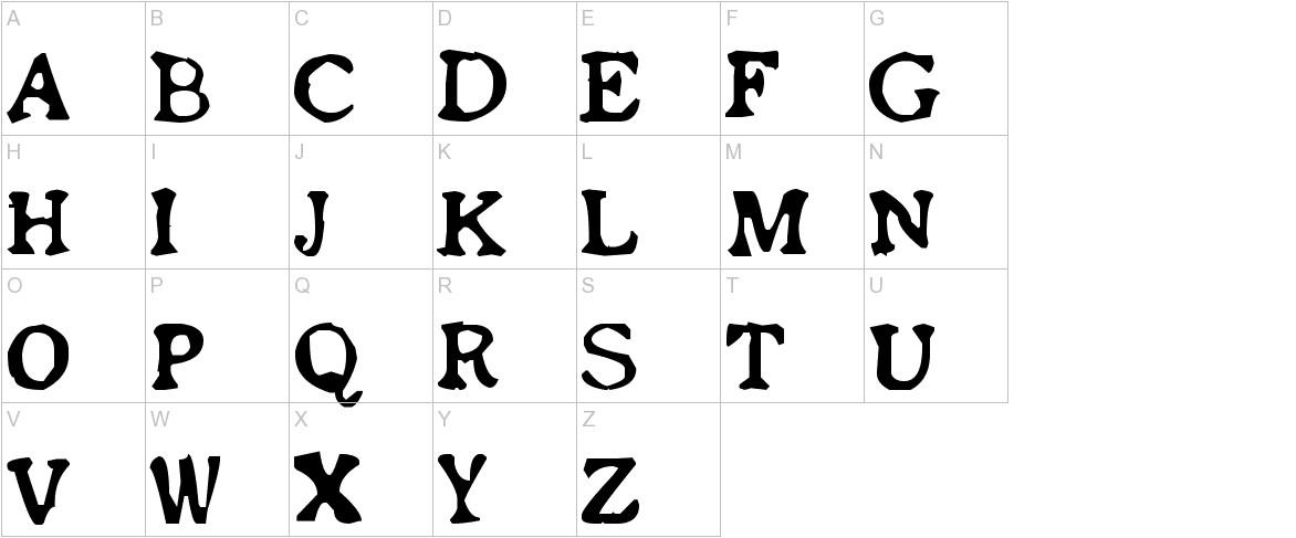 Old newspaper font uppercase