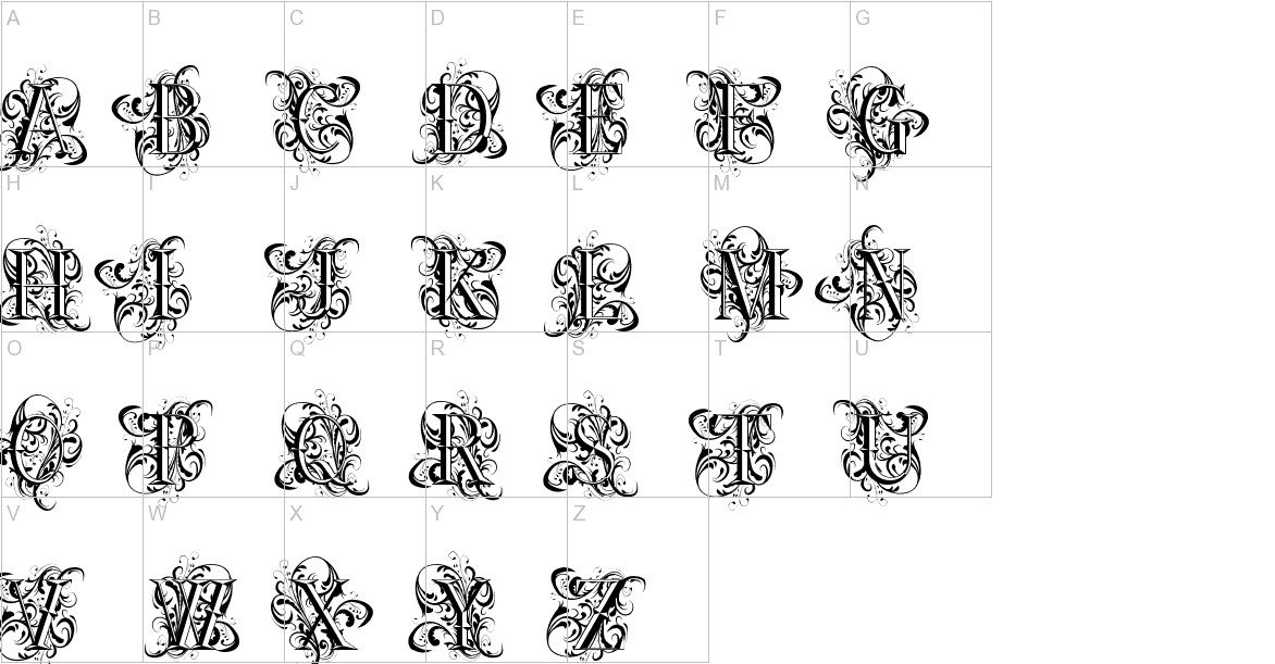 Ornamental Versals uppercase