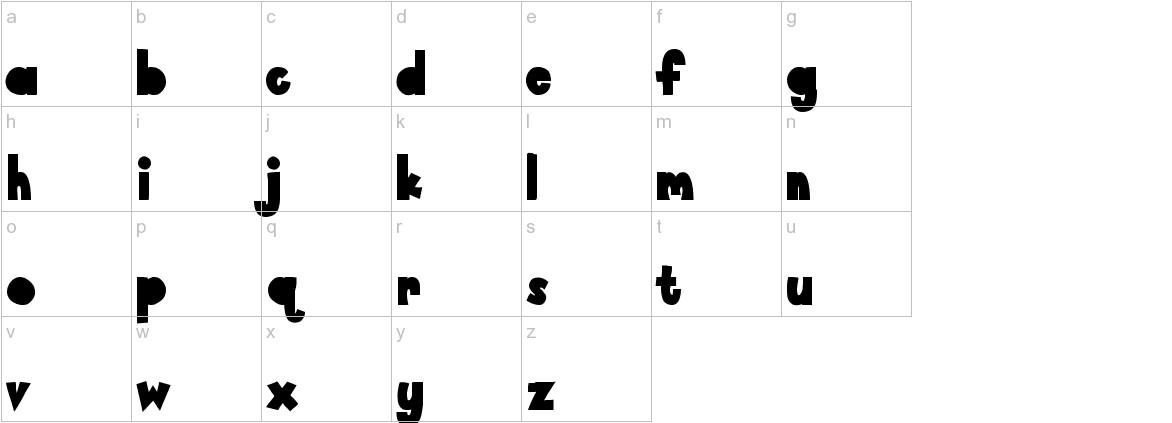 Paper Cutout lowercase